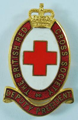The British Red Cross Branch Deputy President badge