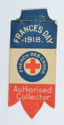 flag: France's Day 1918. French Red Cross. Authorised Collector.