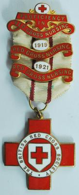 Proficiency badge in Red Cross Nursing