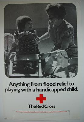 Poster advertising the work of the British Red Cross