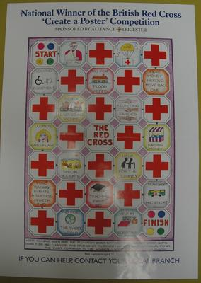 poster advertising the National Winner of the British Red Cross 'Create a Poster' Competition