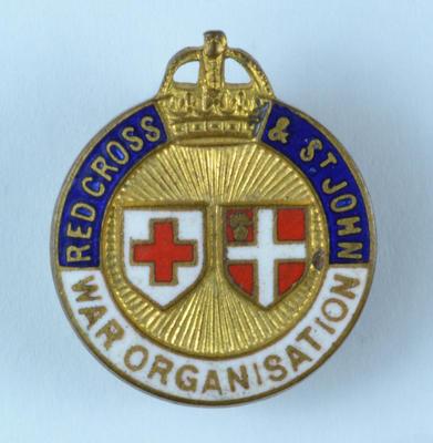 Joint War Organisation badge; Medals and Badges/badge; 1199/10/4(10)
