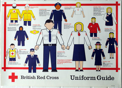 poster advertising British Red Cross uniform