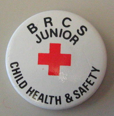 Junior Qualification button badges: BRCS Junior Child Health & Safety