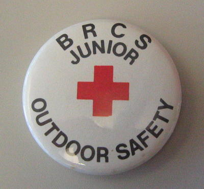 Junior Qualification button badges: BRCS Junior Outdoor Safety