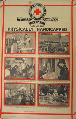 British Red Cross Service Series No 12. Care of the Physically Handicapped. 6 photographs with captions.