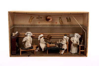 Diorama showing The Surgical Requisites Association; Art/diorama; 742/2