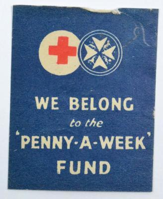 Red Cross Penny a Week Fund badge