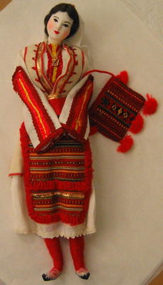 Doll wearing traditional Greek costume