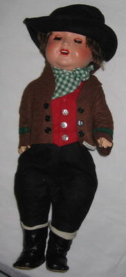 male doll: wearing traditional costume of Federal Republic of Germany