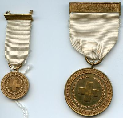 British Red Cross War medal with minature
