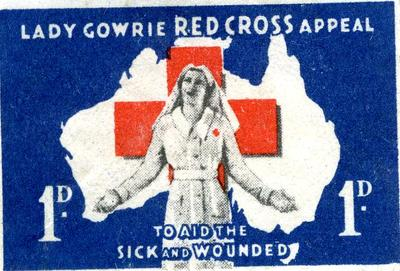 Lady Gowrie Red Cross Appeal stamp