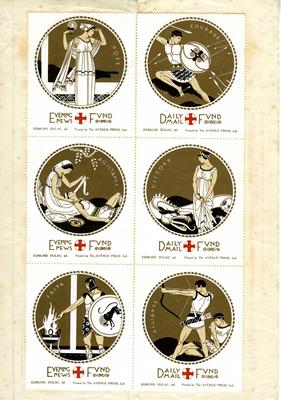 Children's Red Cross Fund - Daily Mail stamps; Edmund Dulac; Communication/postage stamp; 884/79(2)