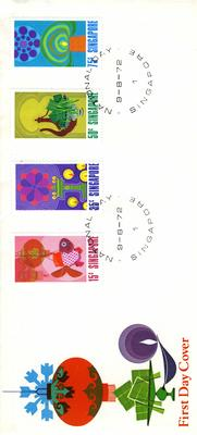 official first day cover: National Day Singapore 9.8.72