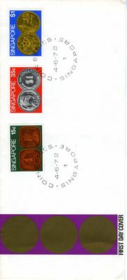 official first day cover: Coin Series Singapore 4.6.72