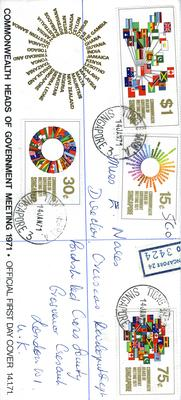 official first day cover: Commonwealth Heads of Government Meeting 1971.