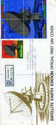 official first day cover: Satellite Earth Station, 1971
