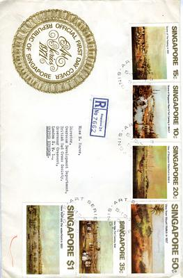 official first day cover: Art Series 1971 Republic of Singapore