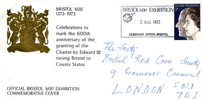 envelope: official Bristol '600' exhibition commemorative cover