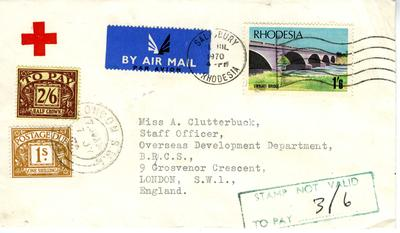 envelope with Rhodesia stamp
