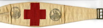 Brassard of Mrs Edith M Williams (British Committee of the French Red Cross) stamped 10 May 1920.