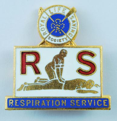 Royal Life Saving Society: Respiration Service badge