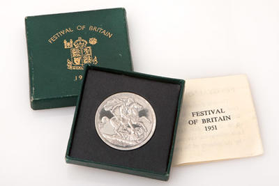 Festival Of Britain Silver Crown Coin, 1951; Royal Mint; Gifts and Souvenirs/coin; 923/41/3
