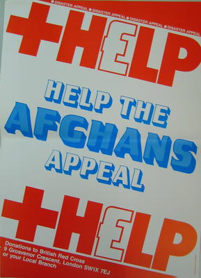 British Red Cross disaster appeal poster: 'Help the Afghans Appeal'