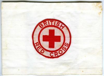Brassards: 'First Aiders' (white with British Red Cross circular flash)