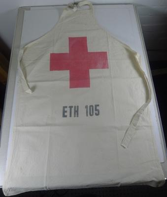 Apron made from a flour sack used in Maichew feeding centre