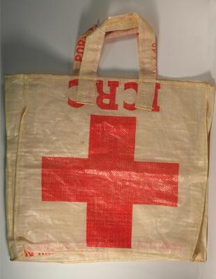 carrier bags made from flour sacks