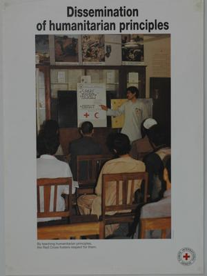 Poster promoting the work of the ICRC