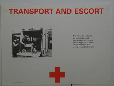 Service Poster - 'Transport for the injured'