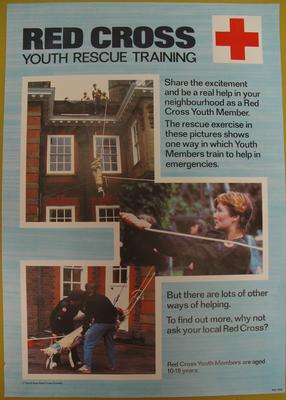 recruitment poster for Red Cross Youth; Printed Docs (museum)/poster; 97(9)/57