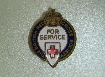 The British Red Cross Society For Service badge
