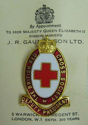 Deputy President badge belonging to Lady Eustace Percy