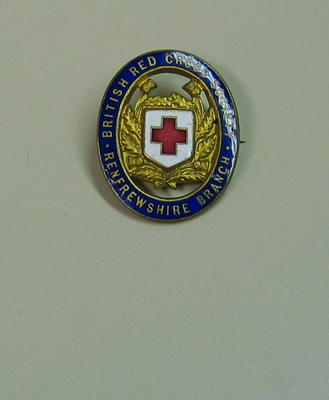 British Red Cross Society Renfrewshire Branch badge