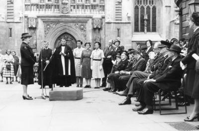 Presentation and Dedication of a New Ambulance to Bath Division, 24 Sep 1964; RCB/2/9/5/65