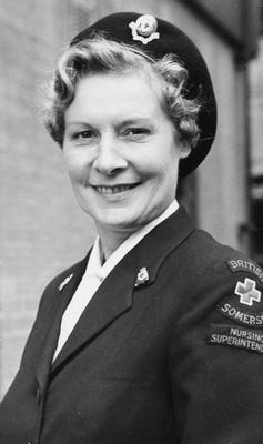 Miss M G Prowse, Matron of Taunton & Somerset Hospital and County Nursing Superintendent, 1963
