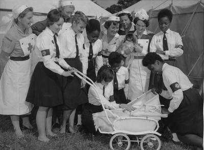 Yeovil Cadets helping to Staff the Creche at Yeovil Show; RCB/2/9/5/31