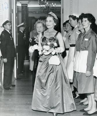 Duchess of Gloucester at the Centenary Ball in the Assembly Rooms, Bath; RCB/2/9/5/58