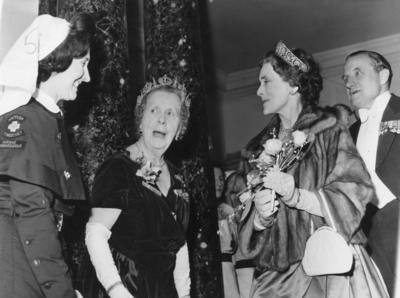 Duchess of Gloucester at the Centenary Ball in the Assembly Rooms, Bath; RCB/2/9/5/59