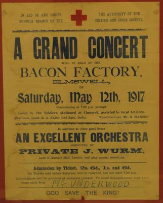 Poster advertising a fundraising event, 1917