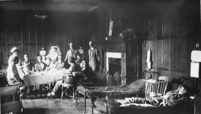 Patients and nursing staff in a ward at an auxiliary hospital in [Suffolk]