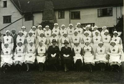 Women's Detachment and Branch Officers outside Ufford Hall, Suffolk (the home of Mrs F Taylor)