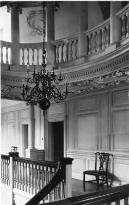 Interior view of Barnet Hill House showing the first floor landing and gallery in dome