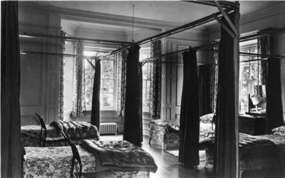 Interior view of Barnet Hill House showing a dormitory bedroom