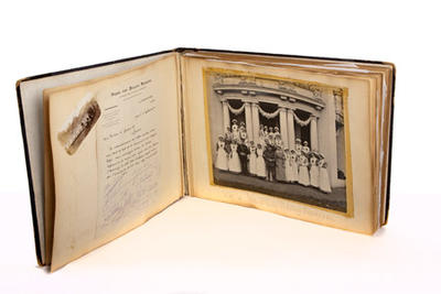 Album relating to the Red Cross service of Annie C Lewis