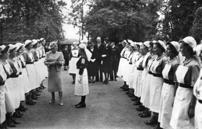 HM Queen visiting Barnett Hill convalescent hospital in Wonersh, Surrey