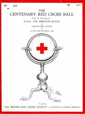 Programme from the Centenary Red Cross Ball held on 5 November 1963